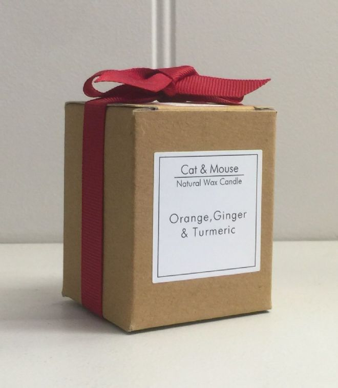 Scented Candle  9cl in a Gift Box - Orange, Ginger & Turmeric